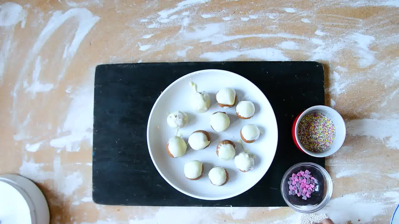 Image of the cooking step-1-9 for Gingerbread Truffles Recipe