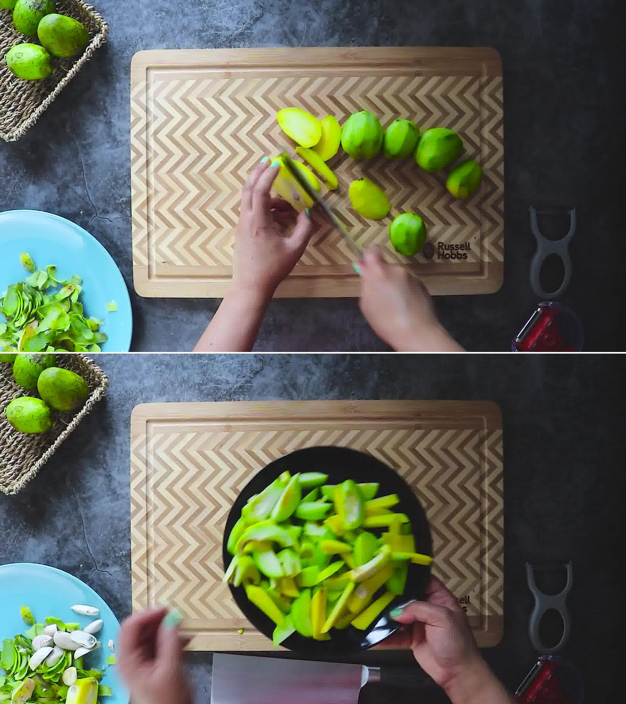 Image of the cooking step-1-2 for Aam Ki Launji (Sweet & Spicy Raw Mango Chutney)