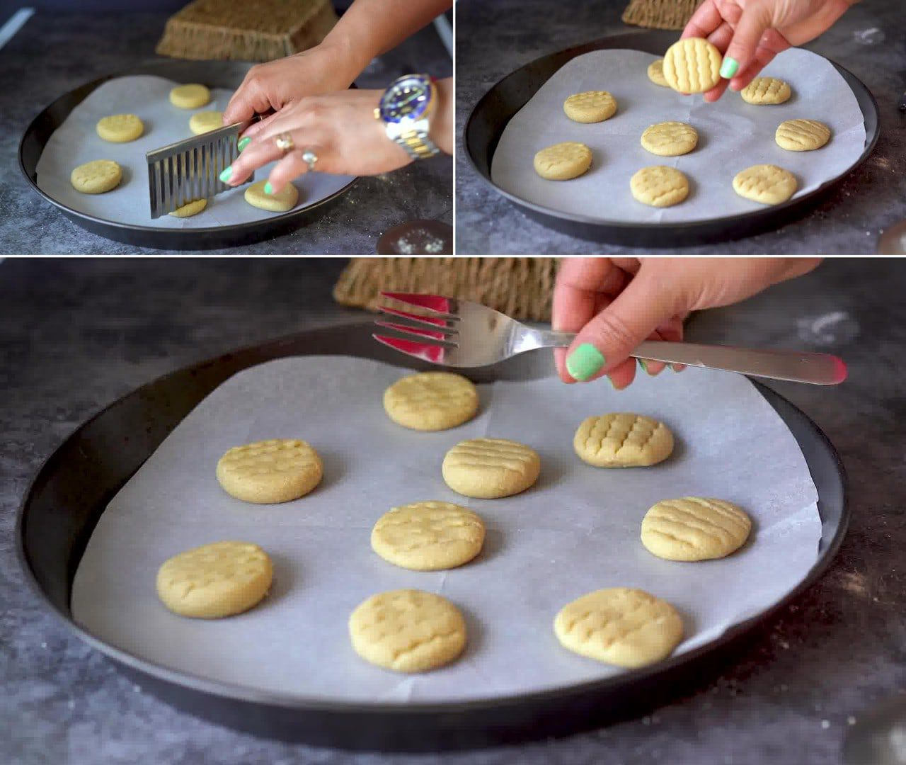 Image of the cooking step-1-8 for 3 Ingredient Almond Flour Cookies