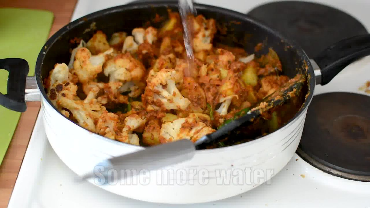 Image of the cooking step-1-21 for Dhaba Style Dry Aloo Gobi - Potato and Cauliflower