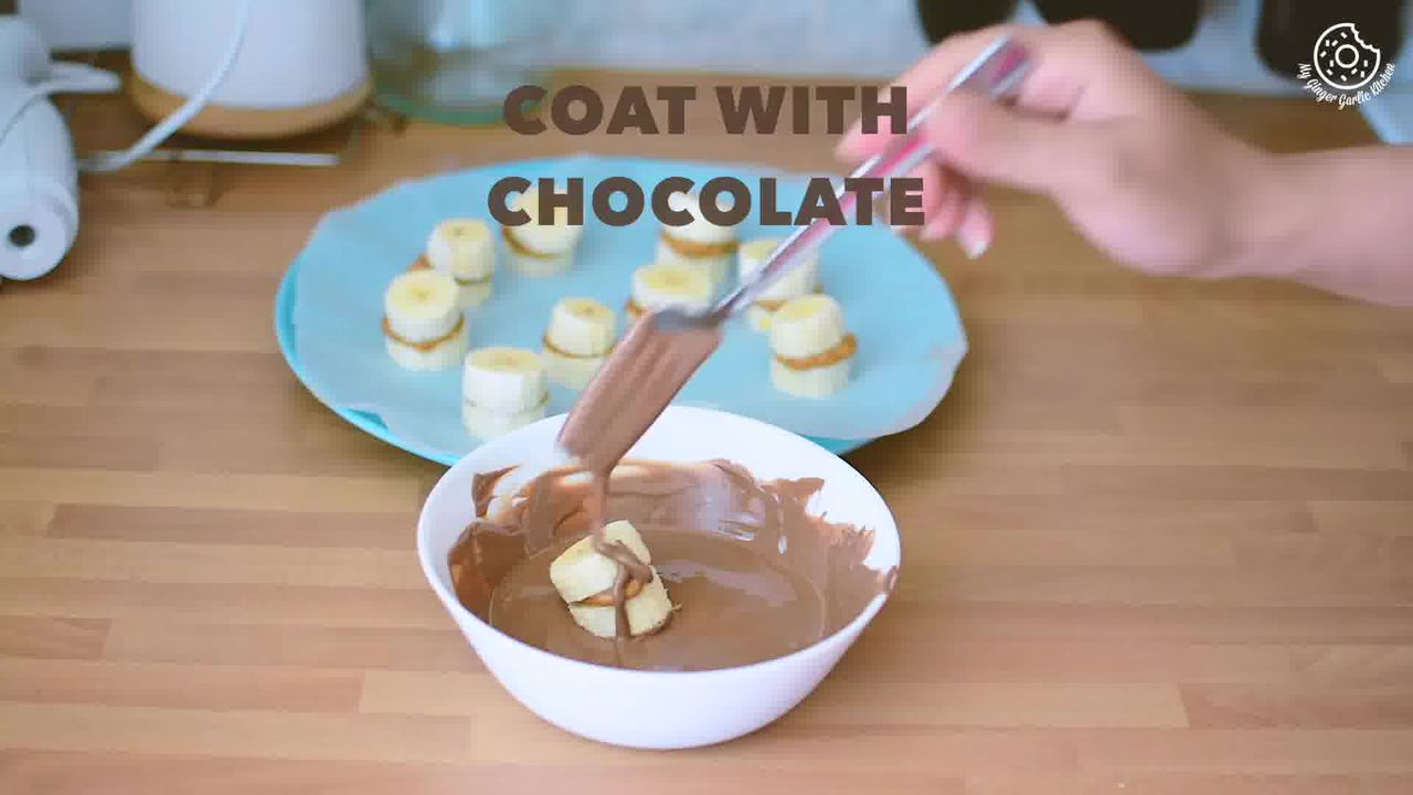 Image of the cooking step-1-5 for Banana Peanut Butter Chocolate Bites