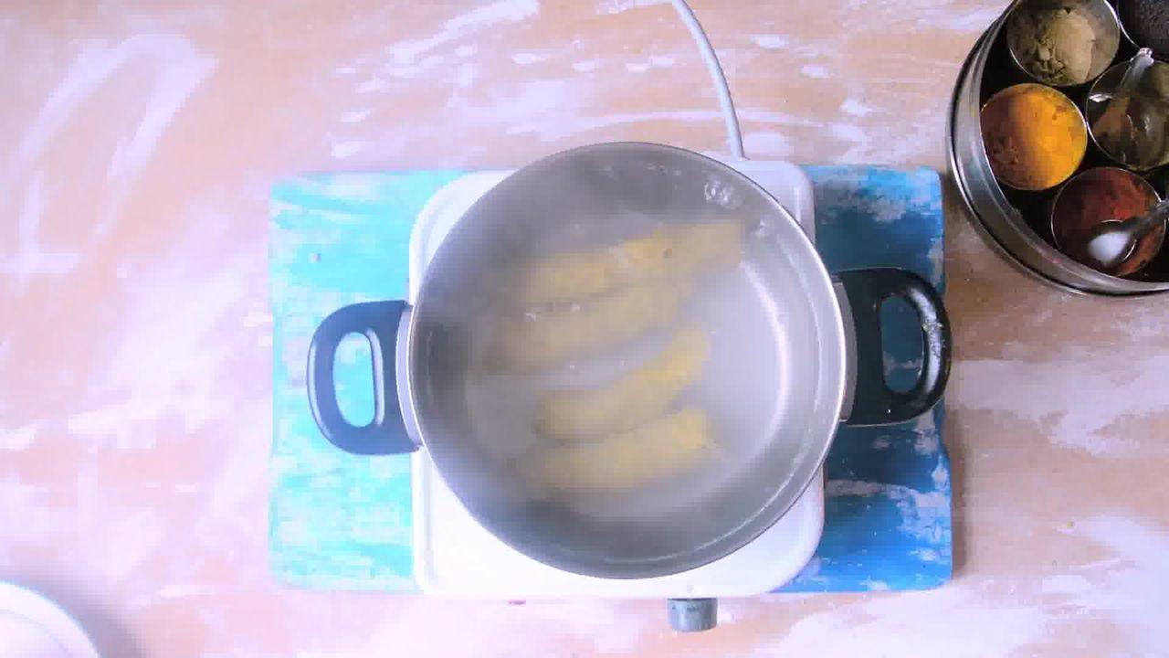 Image of the cooking step-1-4 for Rajasthani Gatta Curry Recipe - Besan Ke Gatte Ki Sabzi