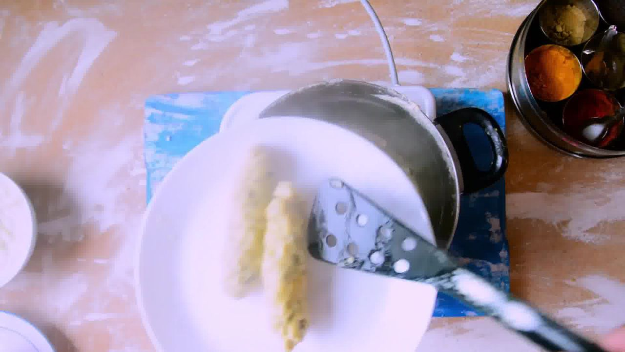 Image of the cooking step-1-5 for Rajasthani Gatta Curry Recipe - Besan Ke Gatte Ki Sabzi