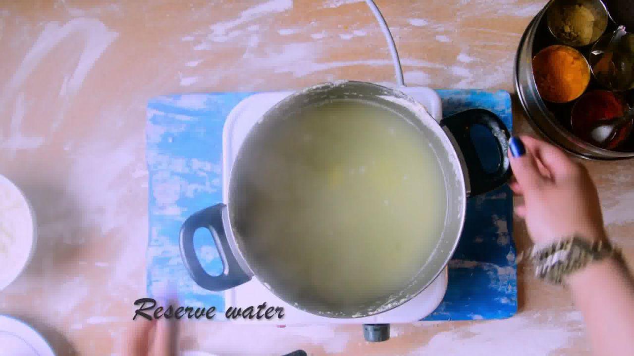 Image of the cooking step-1-6 for Rajasthani Gatta Curry Recipe - Besan Ke Gatte Ki Sabzi