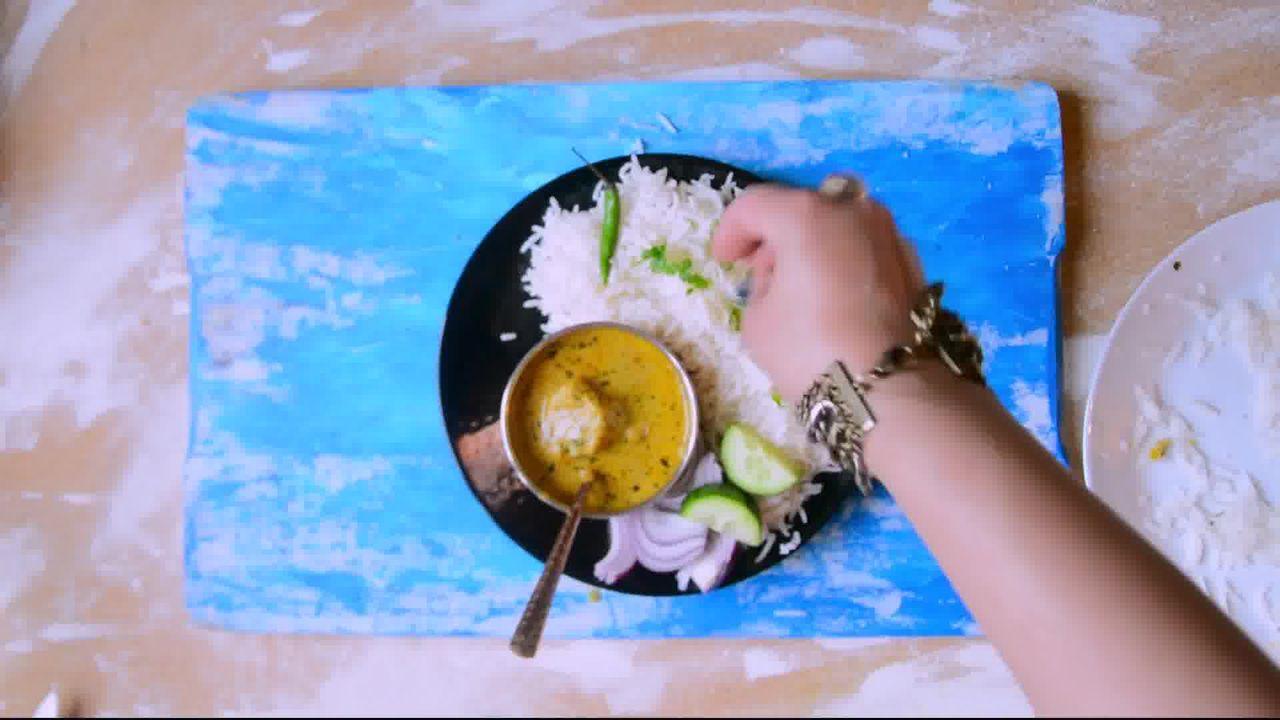 Image of the cooking step-2-9 for Rajasthani Gatta Curry Recipe - Besan Ke Gatte Ki Sabzi