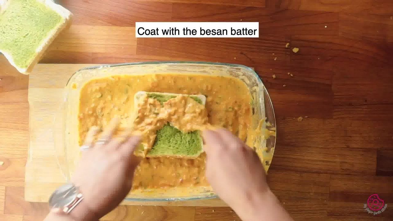 Image of the cooking step-4-3 for Besan Toast 5 Ways - Gram Flour Toast