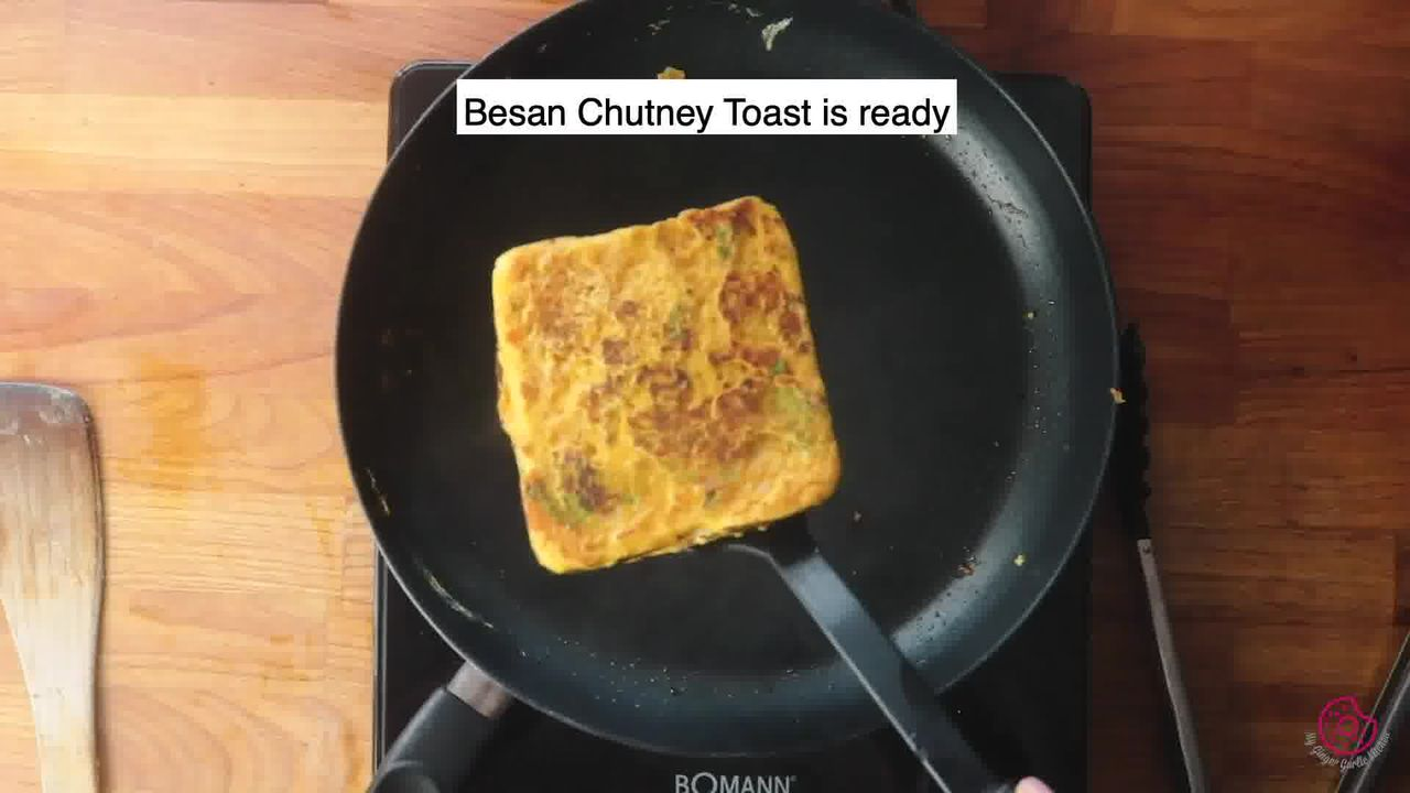Image of the cooking step-4-7 for Besan Toast 5 Ways - Gram Flour Toast