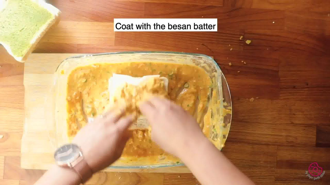 Image of the cooking step-5-3 for Besan Toast 5 Ways - Gram Flour Toast