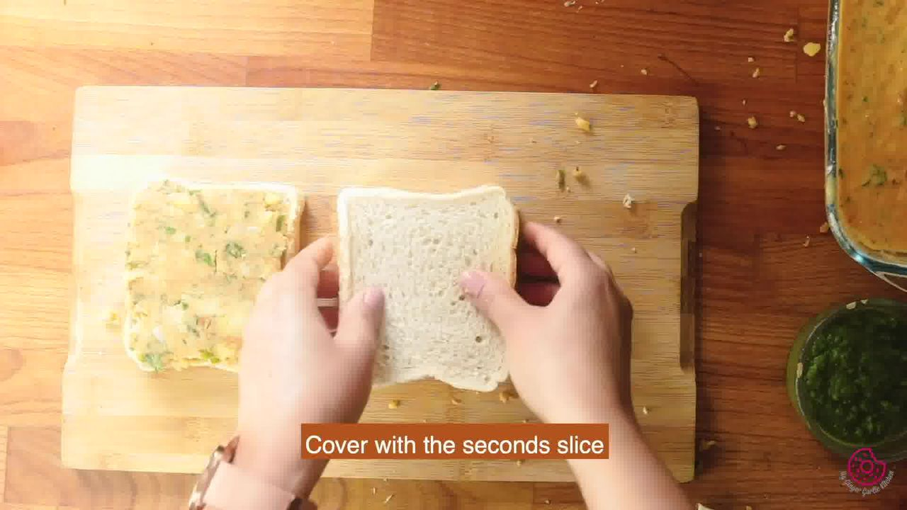 Image of the cooking step-6-3 for Besan Toast 5 Ways - Gram Flour Toast