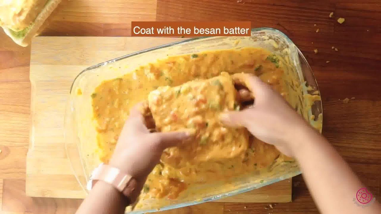 Image of the cooking step-6-4 for Besan Toast 5 Ways - Gram Flour Toast