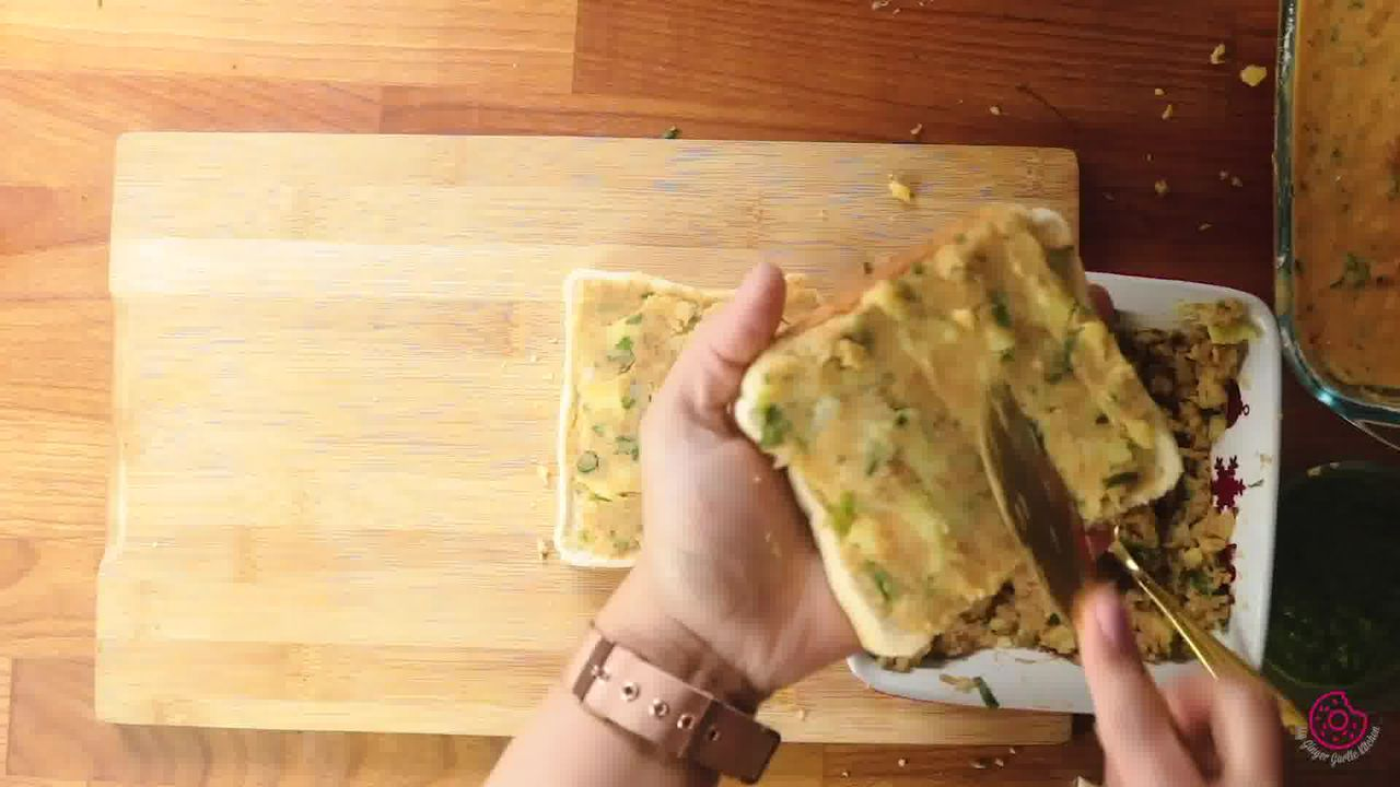 Image of the cooking step-7-1 for Besan Toast 5 Ways - Gram Flour Toast
