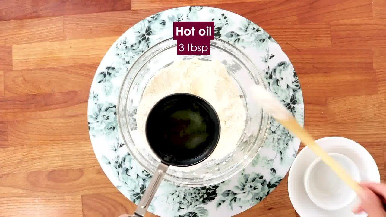 Image of the cooking step-1-2 for Bhakarwadi Recipe - How to make Crispy Bhakarwadi