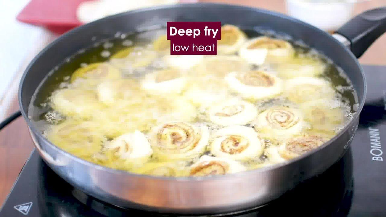 Image of the cooking step-4-2 for Bhakarwadi Recipe - How to make Crispy Bhakarwadi