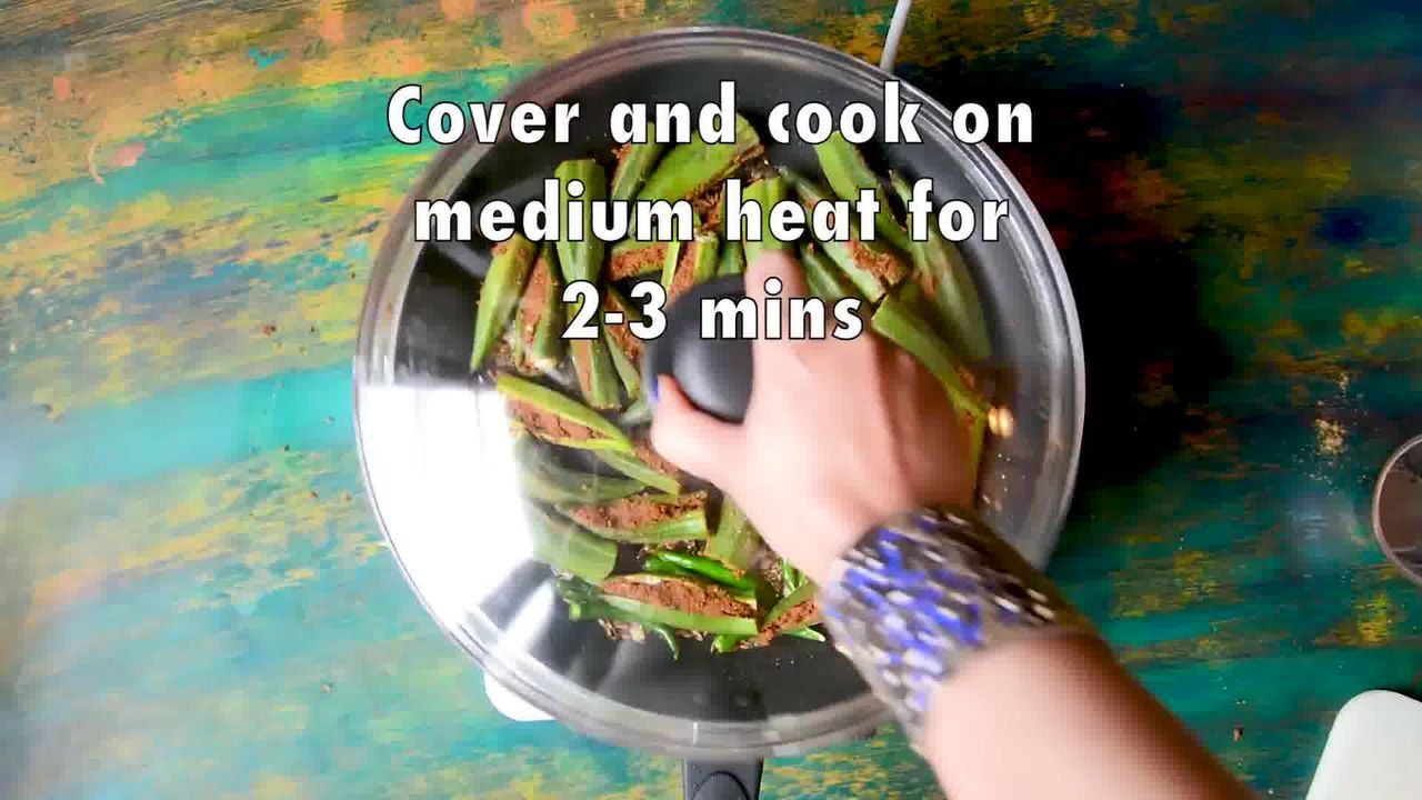 Image of the cooking step-3-6 for Bharwa Bhindi - Stuffed Okra