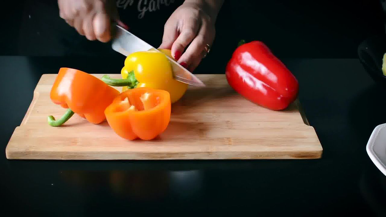 Image of the cooking step-1-1 for Bharwa Shimla Mirch - Potato Stuffed Bell Peppers