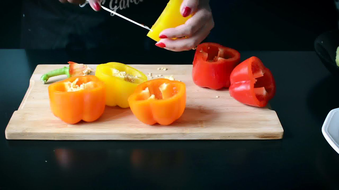 Image of the cooking step-1-2 for Bharwa Shimla Mirch - Potato Stuffed Bell Peppers