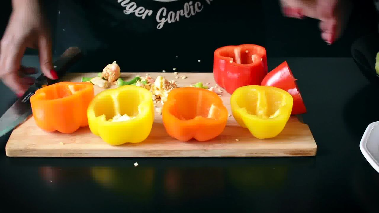 Image of the cooking step-1-3 for Bharwa Shimla Mirch - Potato Stuffed Bell Peppers