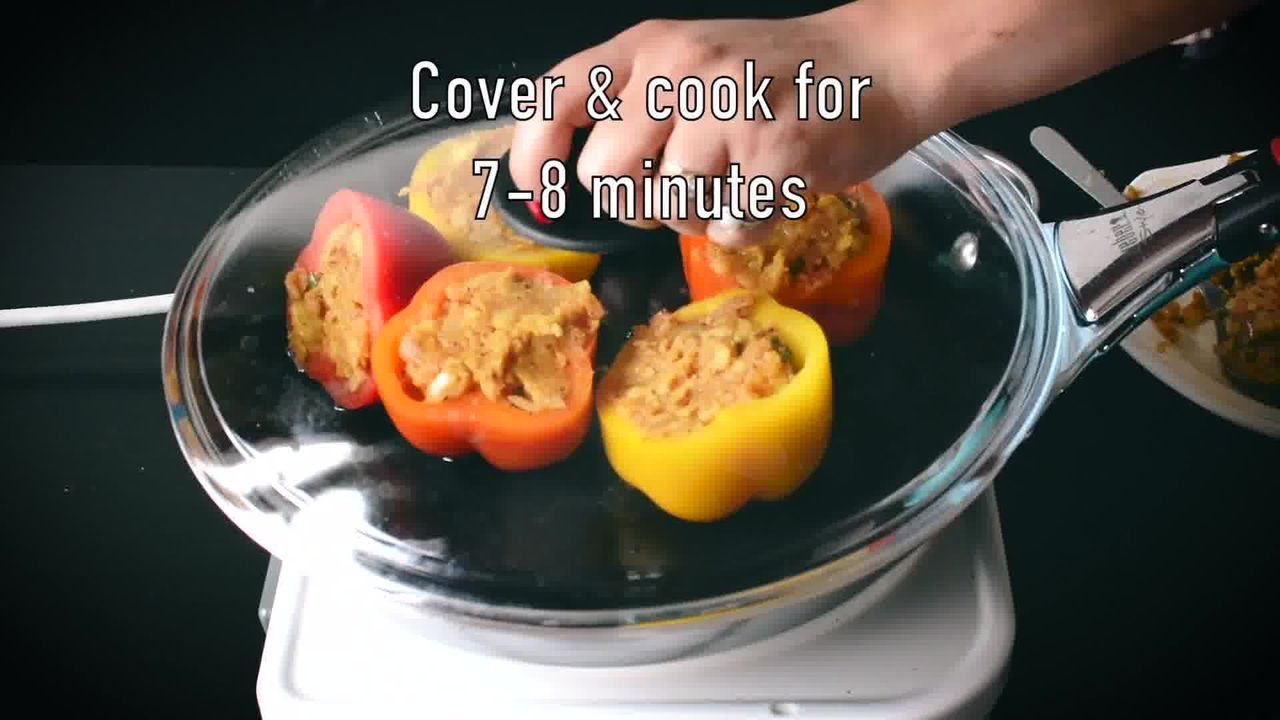 Image of the cooking step-4-2 for Bharwa Shimla Mirch - Potato Stuffed Bell Peppers