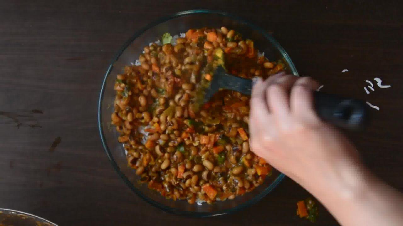 Image of the cooking step-1-13 for Lobia Briyani - Black Eyed Bean Carrot Biryani