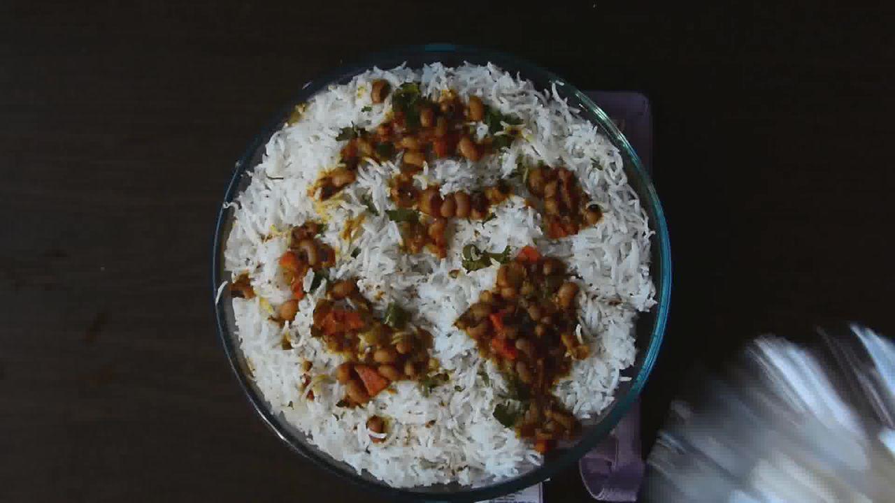 Image of the cooking step-1-18 for Lobia Briyani - Black Eyed Bean Carrot Biryani