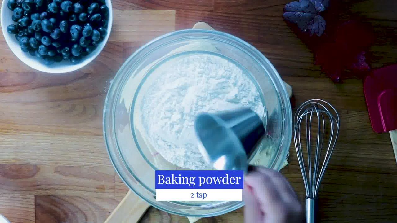Image of the cooking step-2-2 for Quick and Easy Blueberry Muffins Recipe