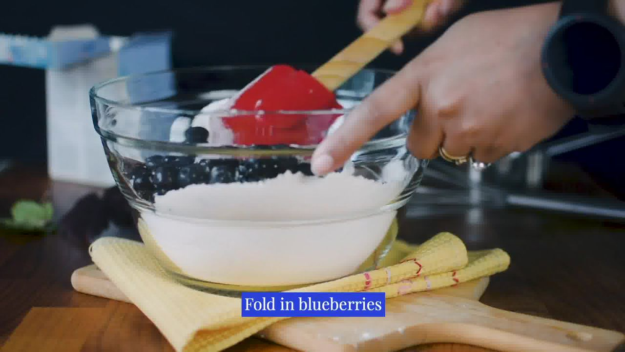 Image of the cooking step-2-4 for Quick and Easy Blueberry Muffins Recipe