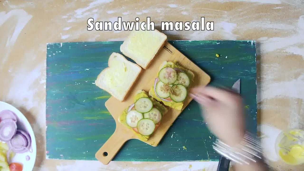 Image of the cooking step-3-5 for Bombay Masala Toast - How to Make Masala Toast