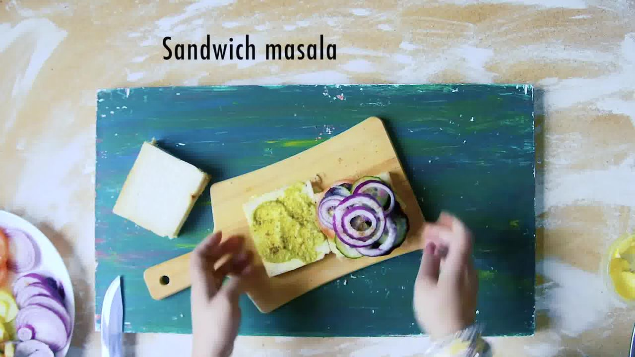 Image of the cooking step-2-4 for Bombay Vegetable Sandwich Recipe