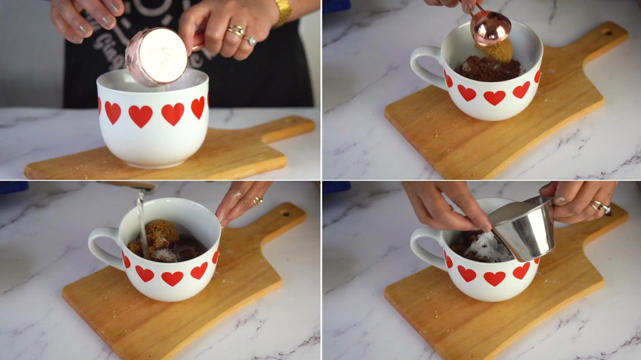 Image of the cooking step-1-1 for Brownie in a Mug