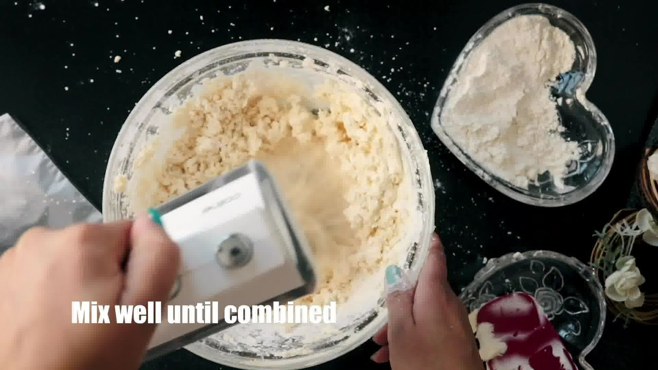 Image of the cooking step-1-5 for Butter Cookies - Eggless Butter Biscuit - Piped Cookies