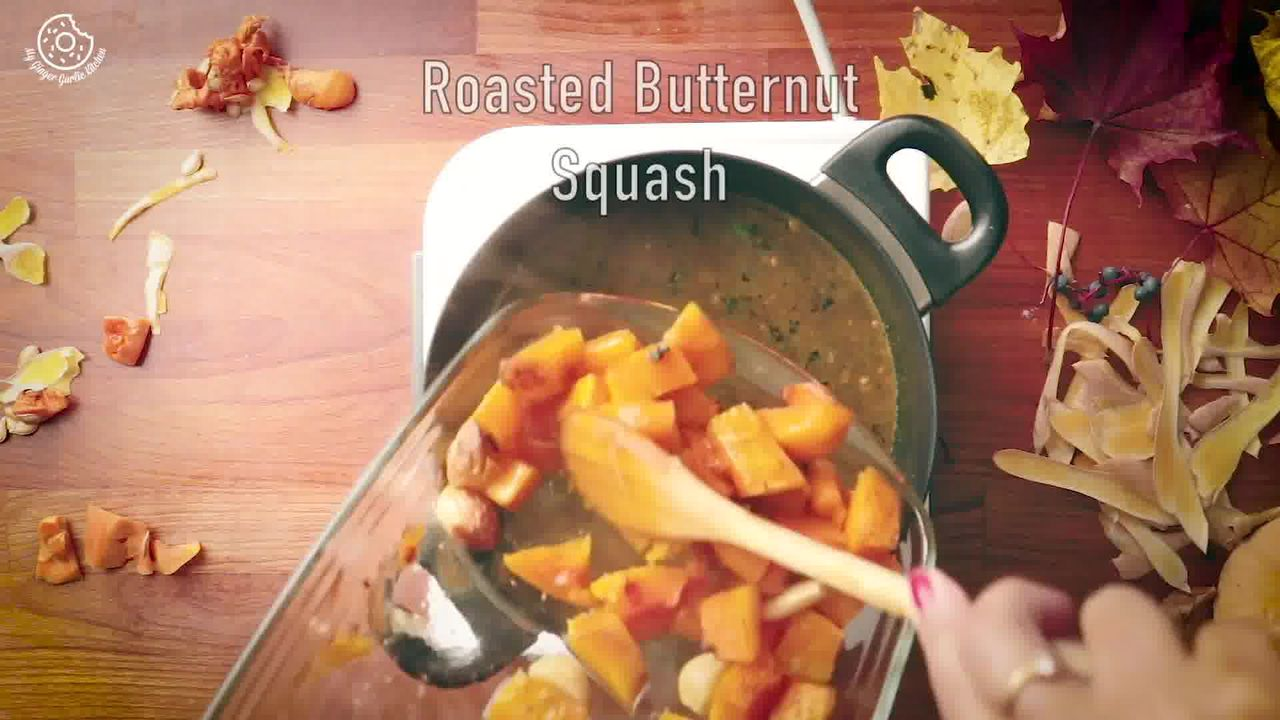 Image of the cooking step-1-10 for Butternut Squash Soup Recipe [Vegan | Gluten Free]