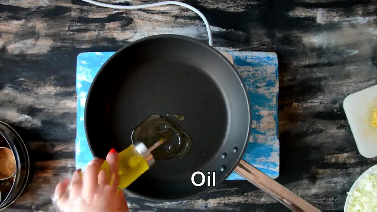 Image of the cooking step-1-1 for Cabbage Peas Stuffed Paratha - Patta Gobi Ka Paratha