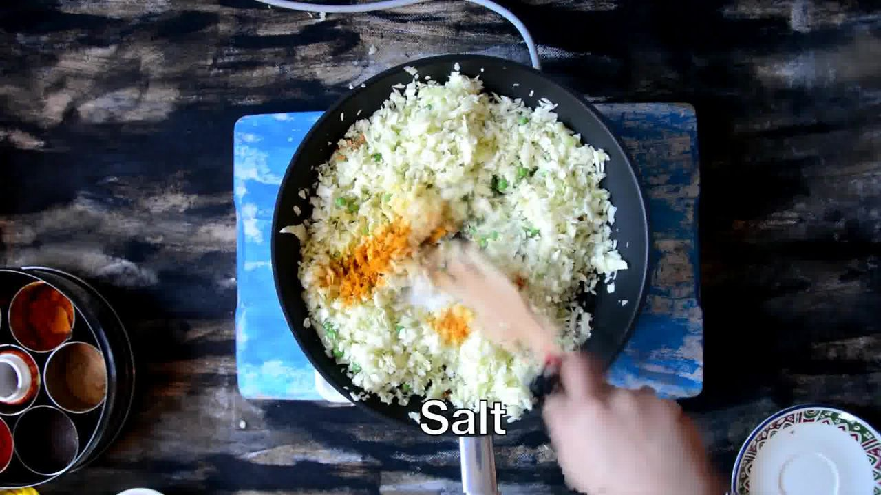 Image of the cooking step-1-6 for Cabbage Peas Stuffed Paratha - Patta Gobi Ka Paratha