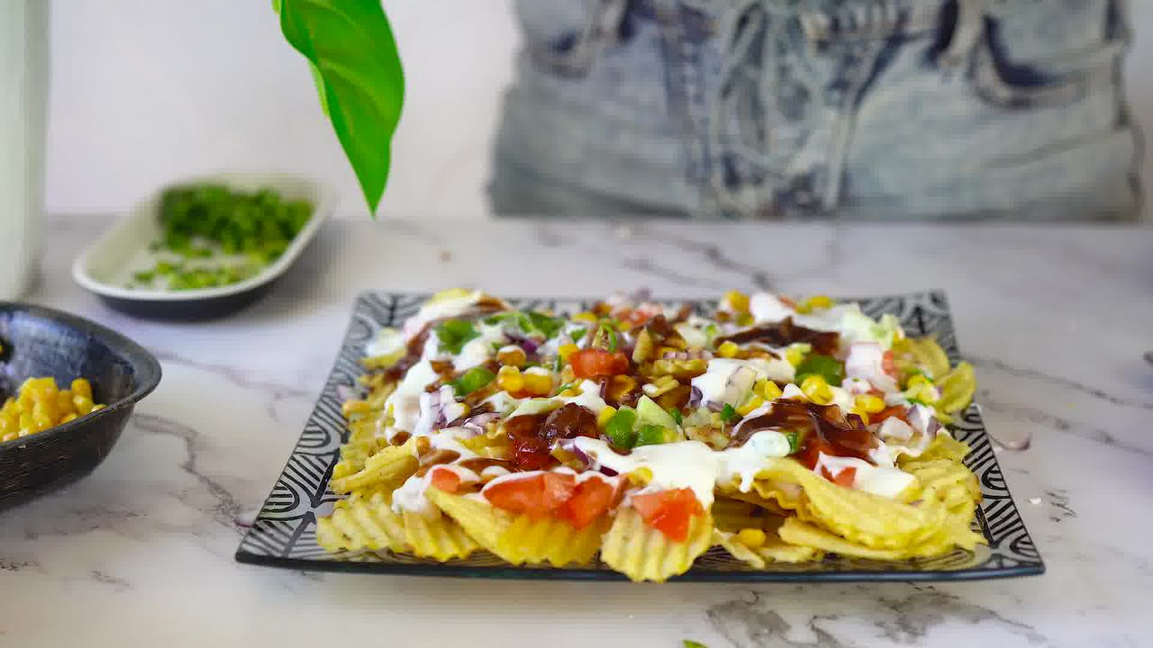 Image of the cooking step-1-3 for Chips Chaat