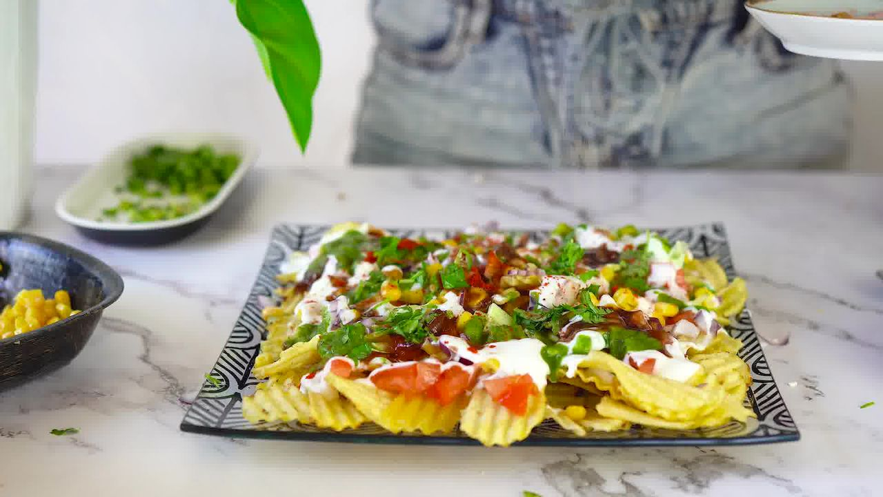 Image of the cooking step-1-4 for Chips Chaat