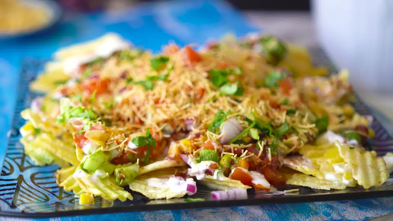 Image of the cooking step-1-7 for Chips Chaat