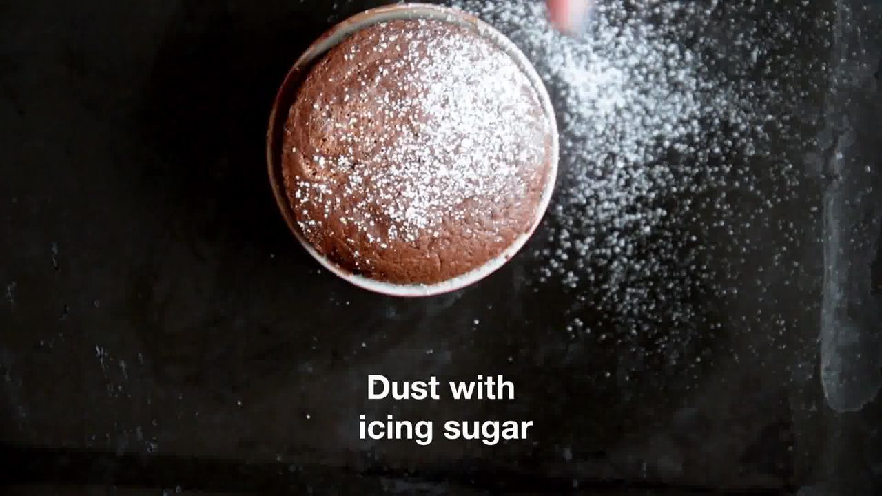 Image of the cooking step-1-14 for Chocolate Souffle (Video)