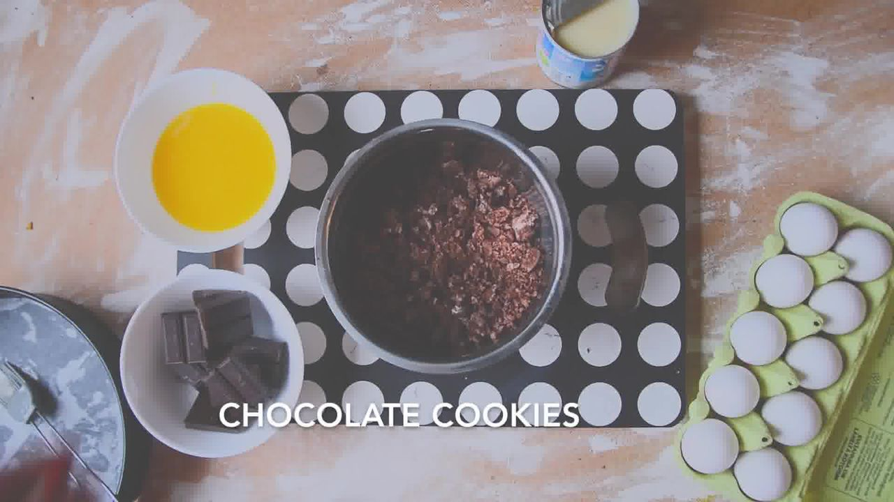 Image of the cooking step-1-1 for Chocolate Cheesecake