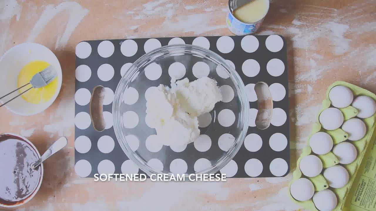 Image of the cooking step-2-3 for Chocolate Cheesecake