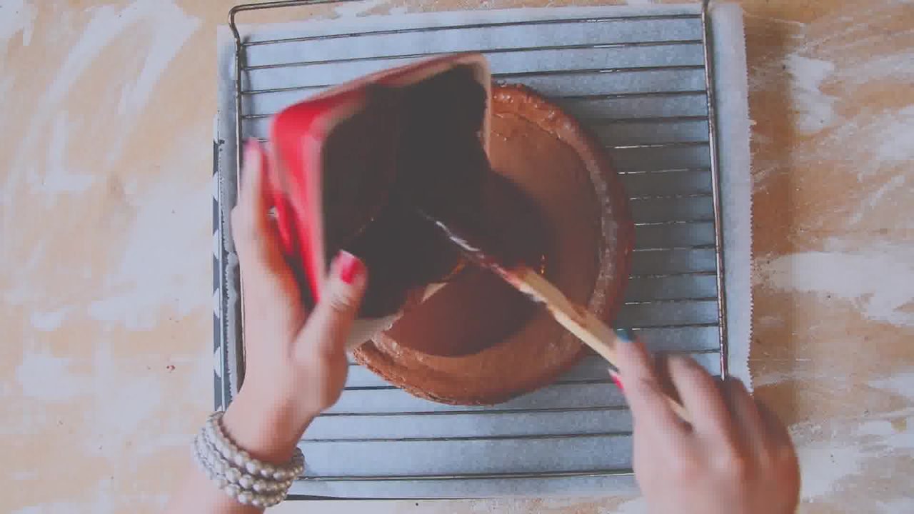 Image of the cooking step-5-2 for Chocolate Cheesecake