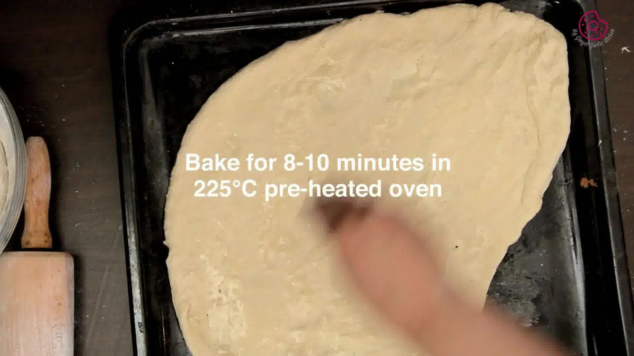Image of the cooking step-2-4 for Corn Cream Cheese Flatbread with Orange Vinaigrette
