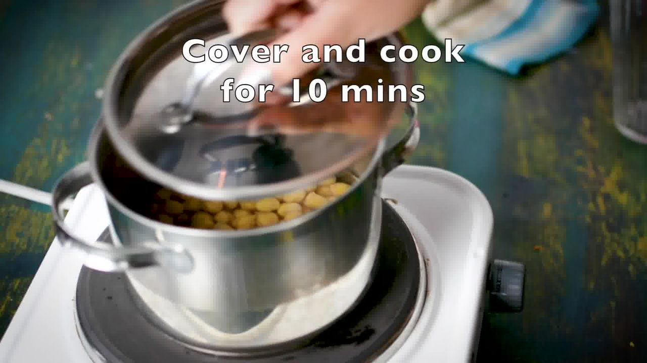 Image of the cooking step-2-2 for Crispy Fried Chana Masala - Crunchy Crispy Chickpeas