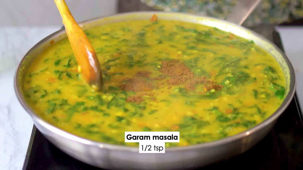 Image of the cooking step-2-15 for Dal Palak - Spinach Dal