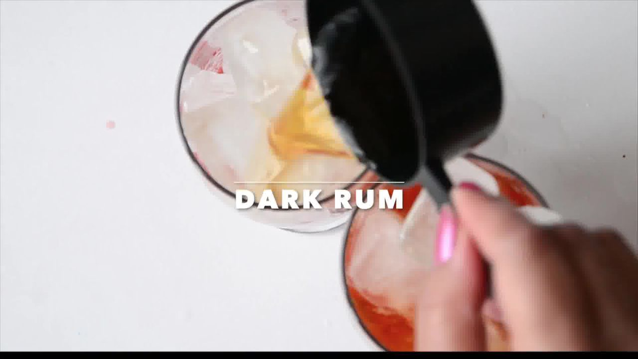 Image of the cooking step-2-3 for Dark Rum Strawberry Mango Mojito Recipe