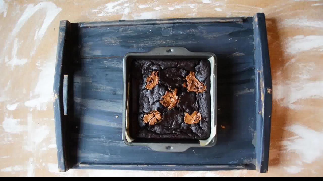 Image of the cooking step-1-10 for Eggless Banana Peanut Butter Chocolate Brownies