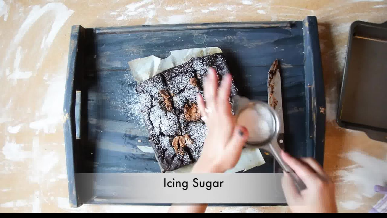 Image of the cooking step-1-12 for Eggless Banana Peanut Butter Chocolate Brownies
