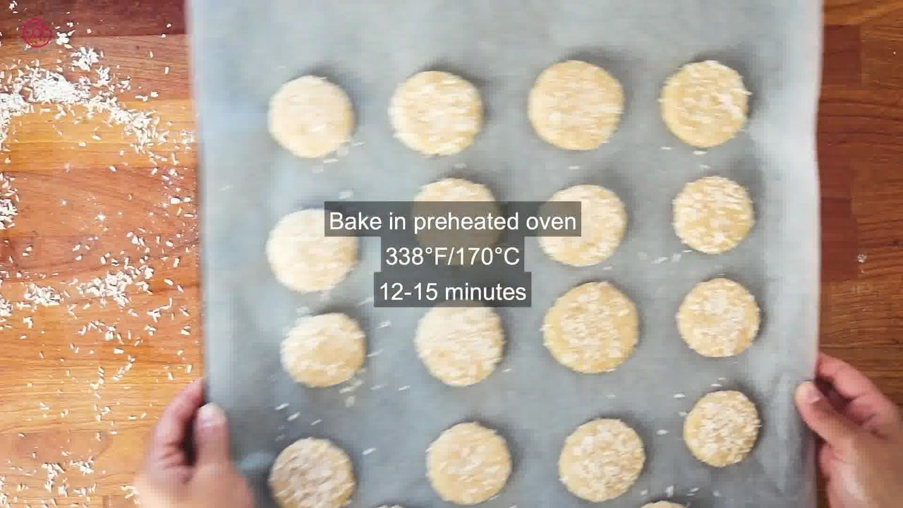 Image of the cooking step-1-12 for Eggless Coconut Cookies