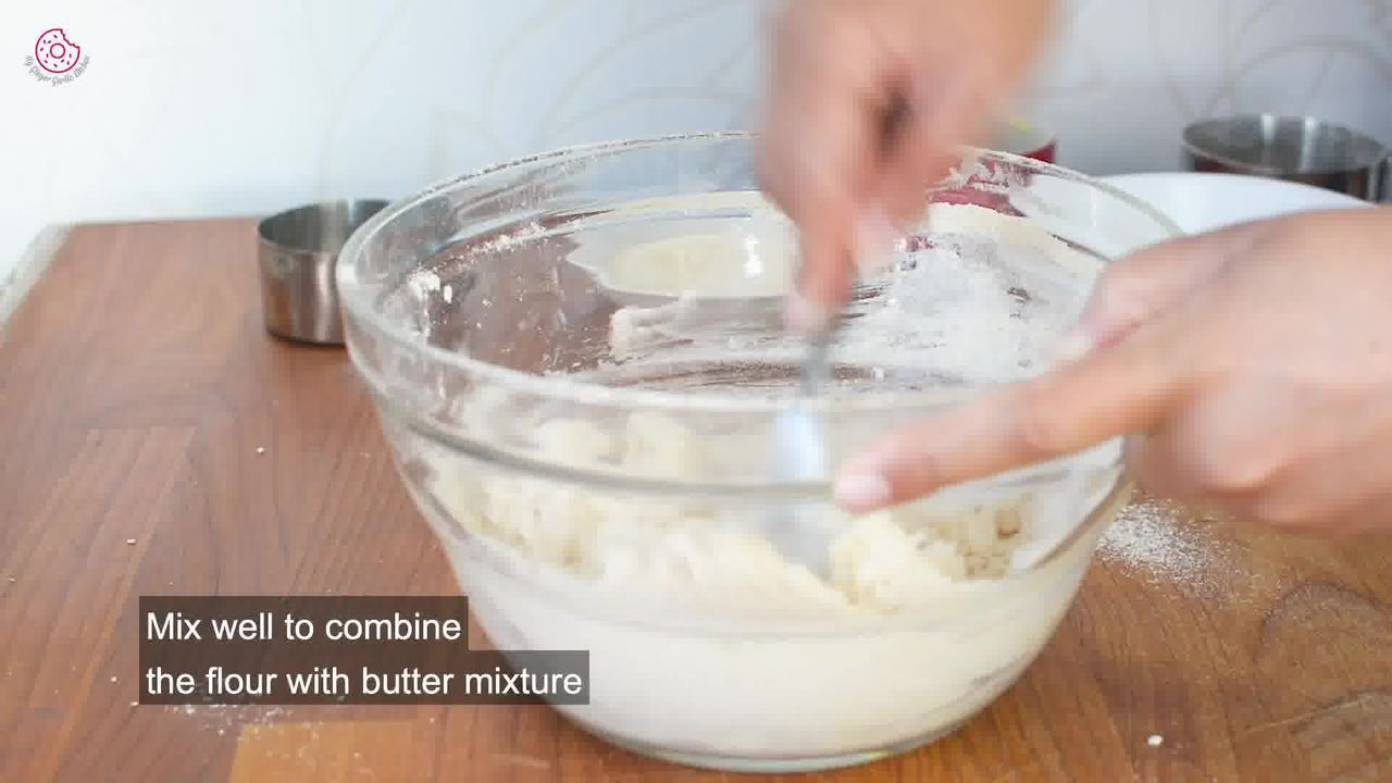 Image of the cooking step-1-5 for Eggless Coconut Cookies