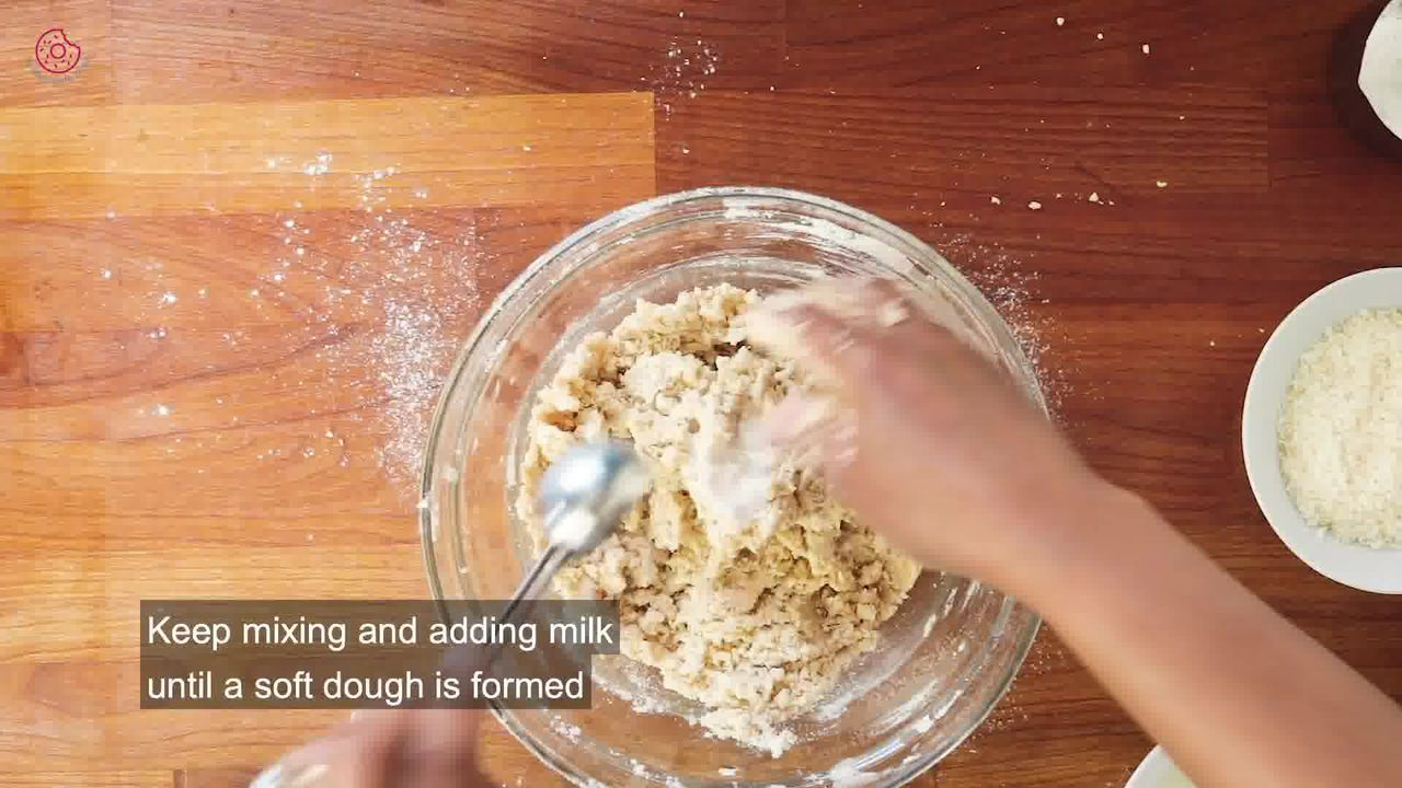 Image of the cooking step-1-6 for Eggless Coconut Cookies