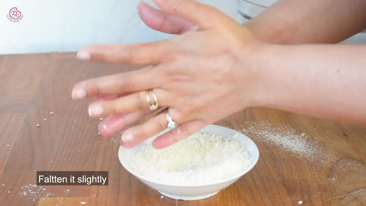 Image of the cooking step-1-9 for Eggless Coconut Cookies
